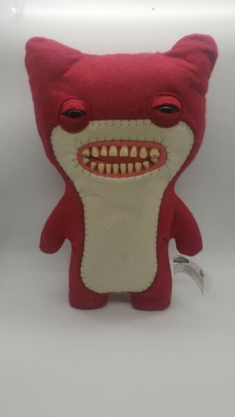 """Fuggler Funny Monster Large 12"""" Plush Toy Awkward Bear Bright Red RARE $12.99"""