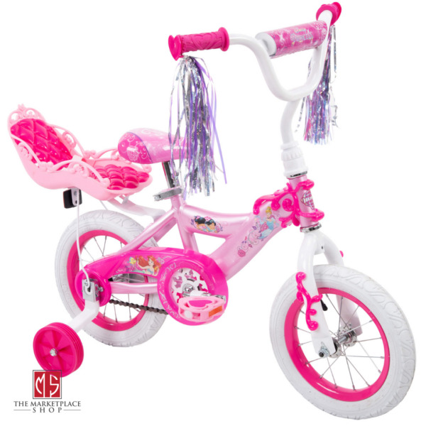 Princess Pink Bike For Girls 12 Inch Training Wheels Starter Bicycle New $95.95