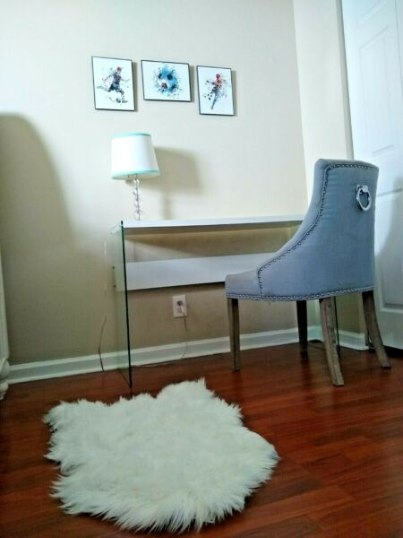 Soft Faux Sheepskin Fur Rug Chair Couch Cover White Cream Grey Area Rug Bedroom