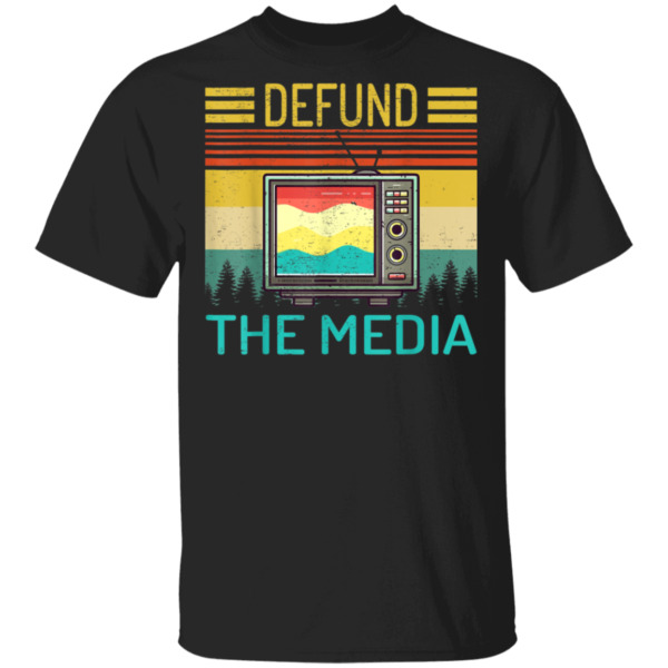 Defund The Media Retro Vintage Gift T Shirt