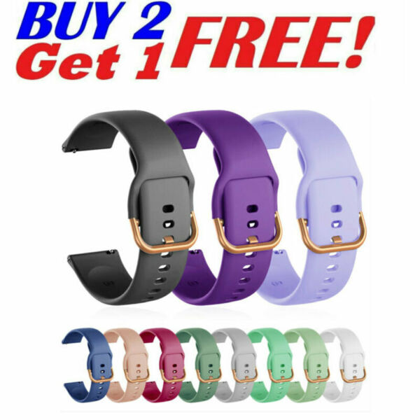 Silicone Wrist Band For Samsung Galaxy Watch 3 41mm Active2 40 44mm Sport Strap $7.59