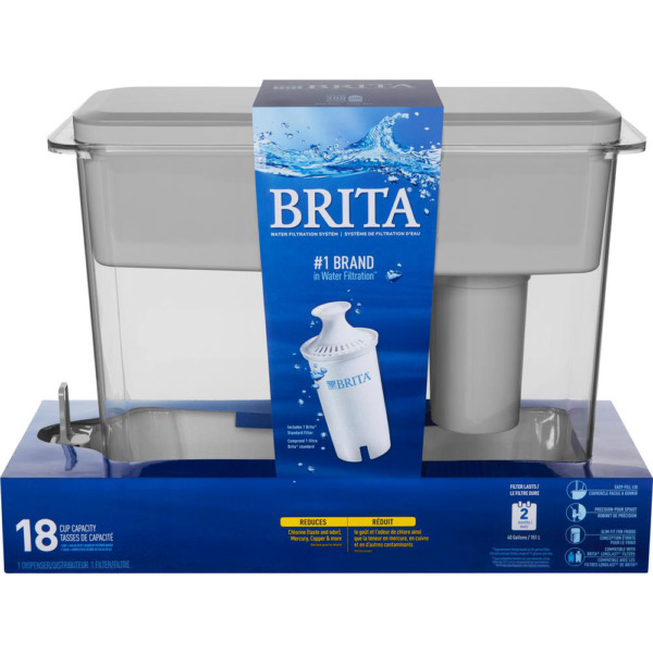 Brita Filtered Water Dispenser BPA Free 18 Cup UltraMax Slip Portable Design NEW