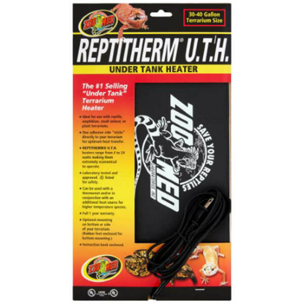 Zoo Med Reptitherm Under Tank Heater UTH 30 40 Gallon 8x12quot; $21.61