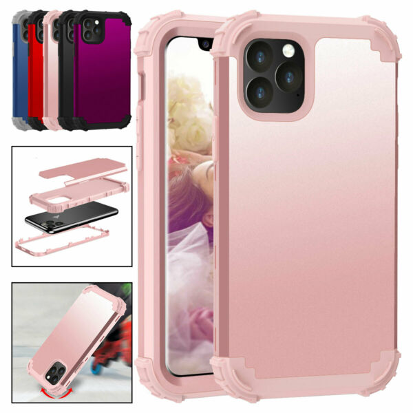 For iPhone 12 Pro Max SE 11 Xs Max 6s 7 8 Plus Phone Case Hard Armor Heavy Cover $9.56