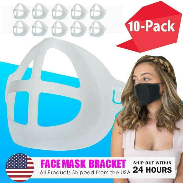 10pcs 3D Face Mask Bracket Mouth Separate Inner Stand Holder Breathing Space