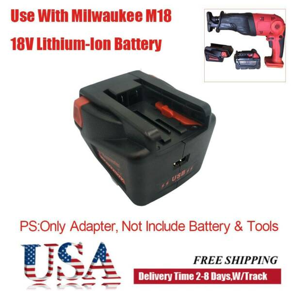 Battery Adapter For Milwaukee M18 Li ion to V18 Battery Tool Converter Case US $18.74