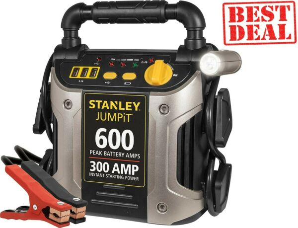 Portable Car Battery Charger Jump Start Power Starter Booster Jumper Cables LED $53.99