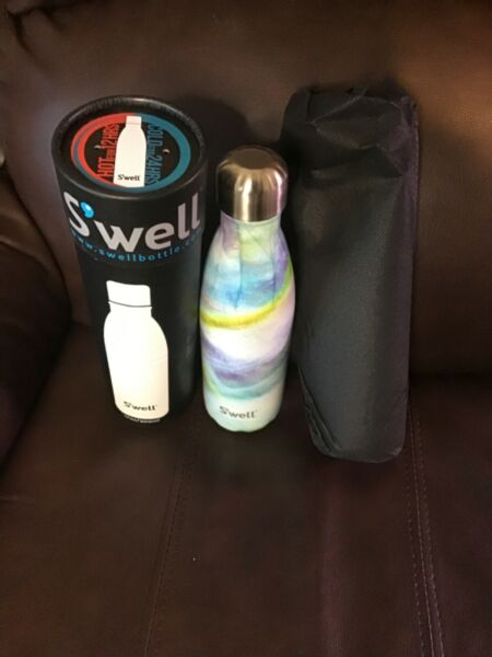 S'well Swell Insulated Stainless Steel Water Bottle 25 oz Mother of Pearl NEW