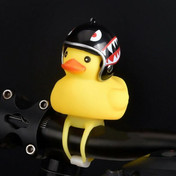 Mini Light Shining Bicycle Bell Duck Bell Bike Cartoon Rubber Motorcycle Horn $4.40