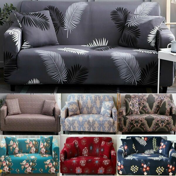 Modern 1 2 3 4 Seater Sofa COVER Couch Lounge Recliner Slipcover Protector $43.88