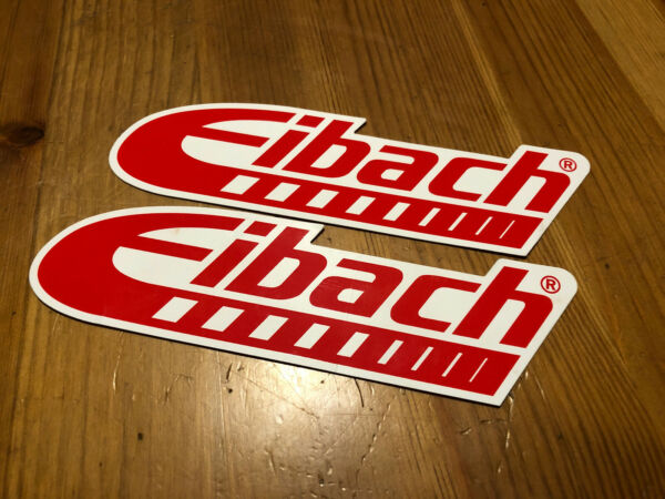 AUTHENTIC EIBACH RACING STICKERS DECALS 2.25X8quot; lot of 2