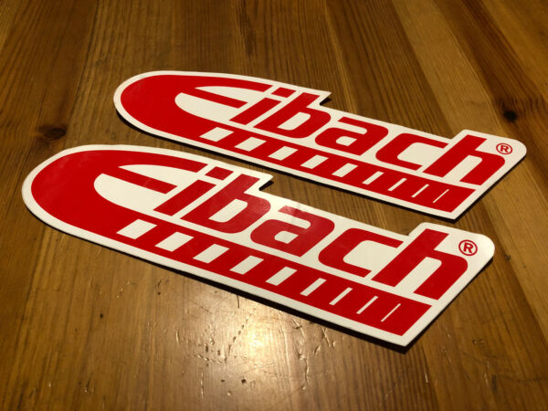 AUTHENTIC EIBACH RACING STICKERS DECALS 3X10quot; lot of 2