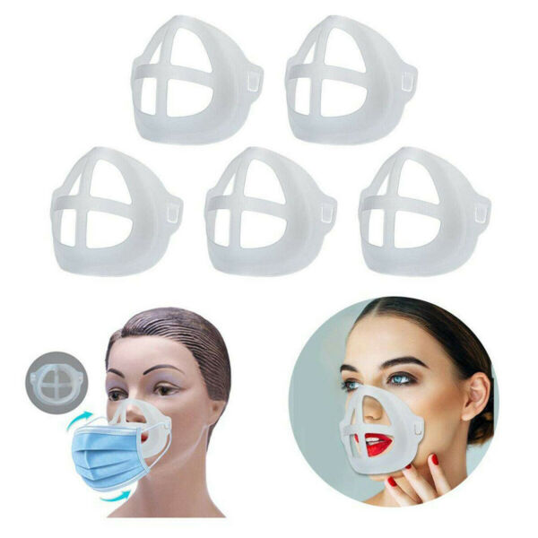 5PCS 3D Face Mask Bracket Insert Mouth Separate Stand Holder Support Frame Cover
