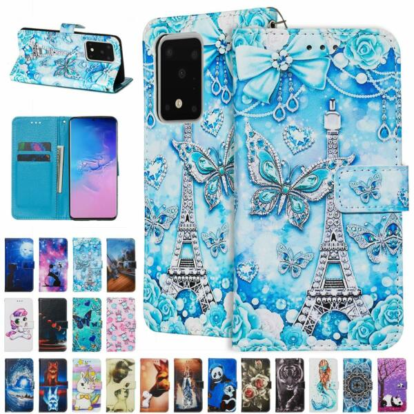 Case For Samsung Galaxy Note 10 Plus S10e S9 S8 S20 Leather Wallet Stand Cover $9.36