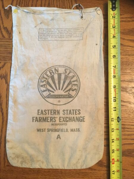 Vintage Eastern Exchange Burlap Bag