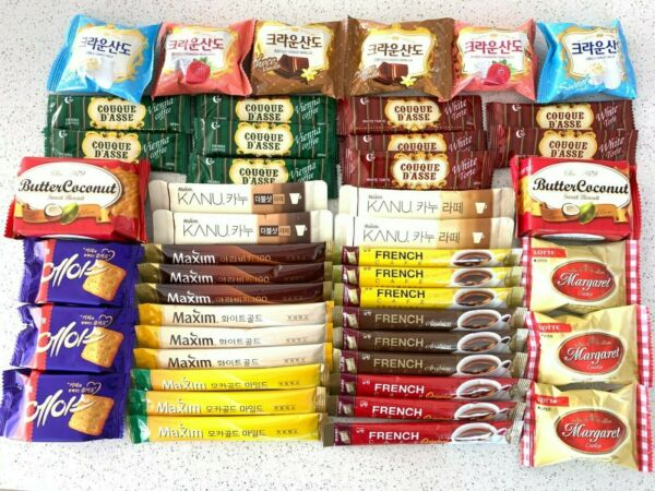 Korean Instant coffee mix with Cookie Variety Pack Maximamp;French Cafe $26.99
