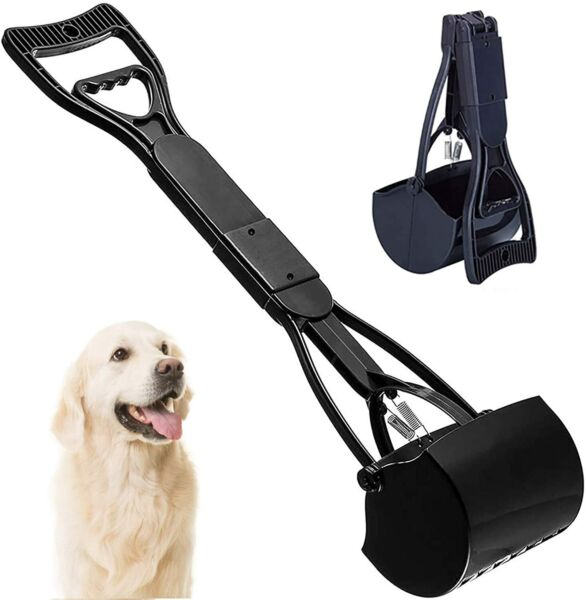 Dog Pooper Scooper 24 inch Durable Spring amp; ABS Plastic Foldable Portable $15.99