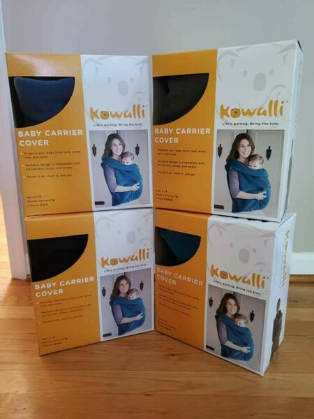Kowalli Baby Carrier Cover ChambrayBlue Fleece Compatible W All Soft Carriers $14.99