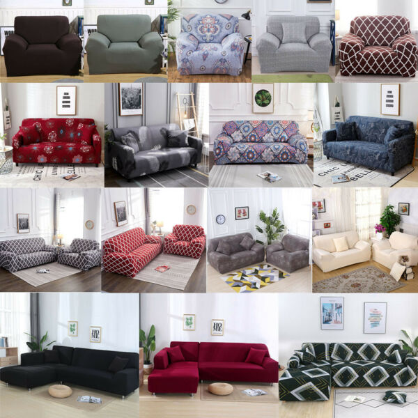 Universal Stretch Chair Sofa Covers 1 2 3 4 Seater Protector Couch Slipcover US $23.99