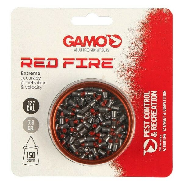 Gamo 632270154 Red Fire .177 Caliber 7.8 Grain Polymer Tip Pellets 150 Pack $15.46