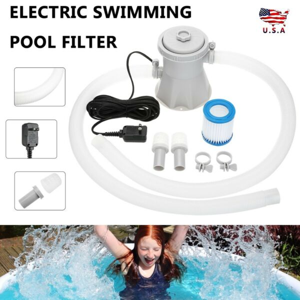Electric White Swimming Pool Filter Pump Water Cleaning Tools Above Ground Pools $34.89