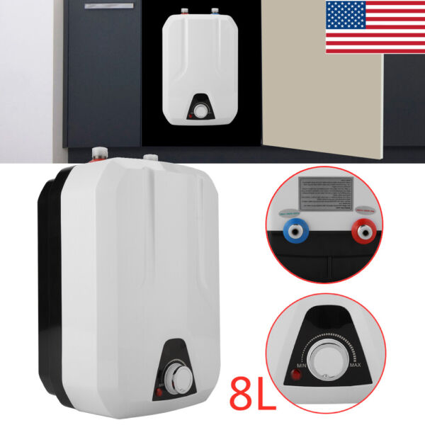 Mini 8L 1500W Instant Electric Water Heater Tankless Shower Hot Water System $77.23