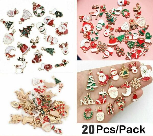 Alloy Christmas Charms Pendant DIY Crafts Making Jewelry Enamel Mixed Decor Lots C $4.72