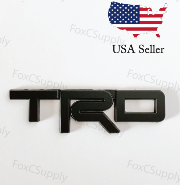 Black Emblem Badge Trunk For Toyota TRD 3D Black Metal Logo 1 x 5 Inch $11.95