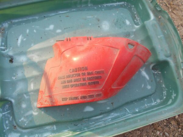 Rare Antique part Vintage Toro 21 Whirlwind Side Discharge CHUTE red plastic oem