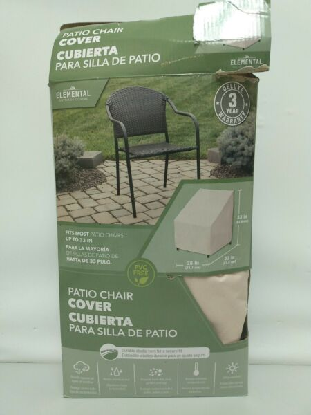 Elemental Tan Polyester Patio Chair outdoor Cover $19.50