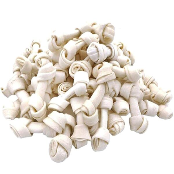 MON2SUN Dog Rawhide Knot Bones 2.5 Inch for Puppy and Small Dogs Natural Flavor $19.99