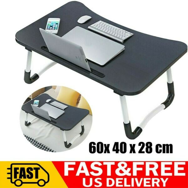 Large Bed Tray Foldable Portable Multifunction Laptop Desk Lazy Laptop Table USA $19.88