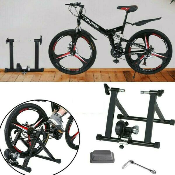 Bike Trainer Stand Magnetic Bicycle Stationary Stand Indoor Exercise 24 29inch $74.88