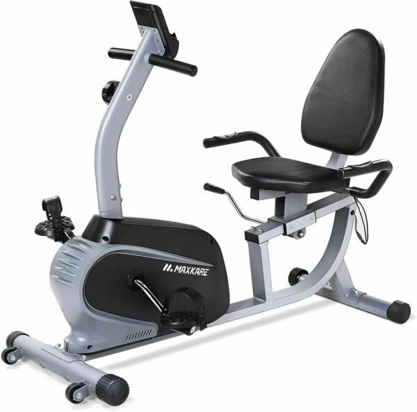 Maxkare Magnetic Recumbent Exercise Bike Indoor Stationary Bike Adjustable Seat $284.95