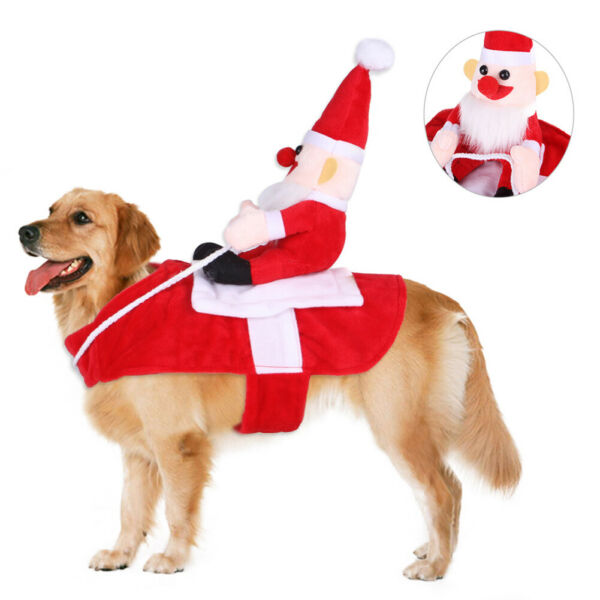 Pet Dogs Christmas Santa Clothes Horse Riding Xmas Party Cosplay Costume Chan $8.47