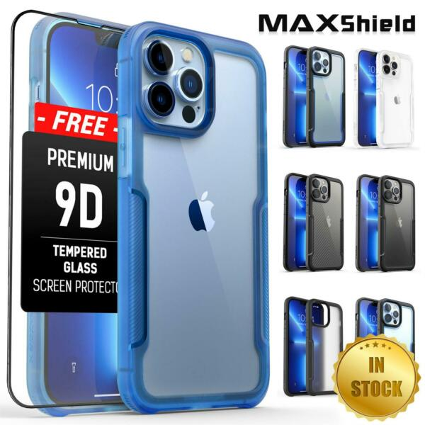Shockproof Case Fr iPhone 13 12 11 Pro Max Heavy Duty Hard Slim Clear Case Cover $11.95