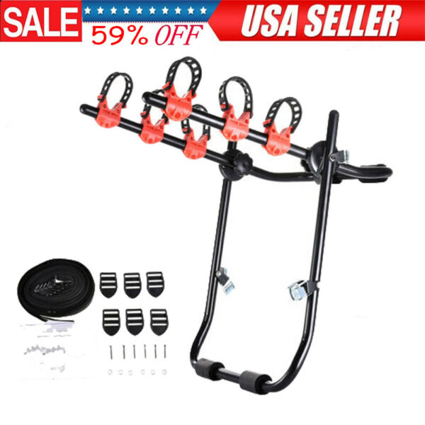 Car SUV Rear Mounted 3 Bike Trunk Mounted Rack Hatchback Bicycle Cycle Carrier $49.99