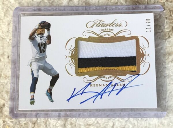 2019 Flawless Keenan Allen 3 Color Patch Auto #d 20 Los Angeles Chargers $75.99