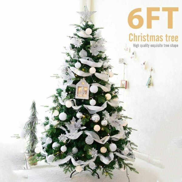 6 7 FT Christmas Tree Artificial PVC W Stand Holiday Season Home Decorat Green