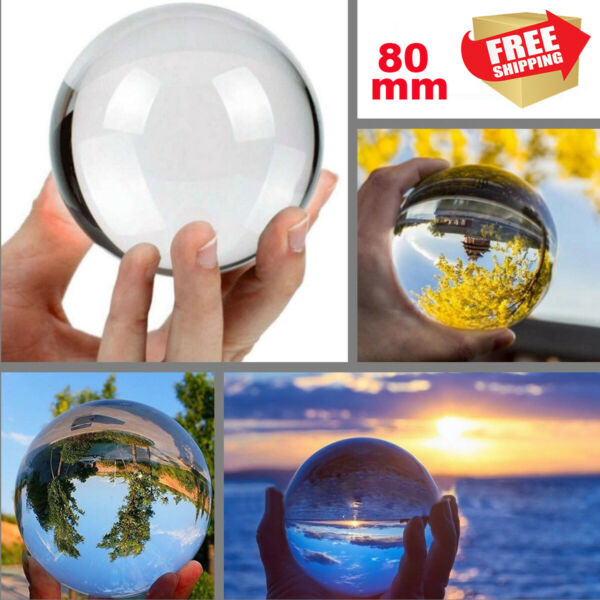 Photography Crystal Ball Sphere Decoration Lens Photo Prop Lensball 40 60 80mm