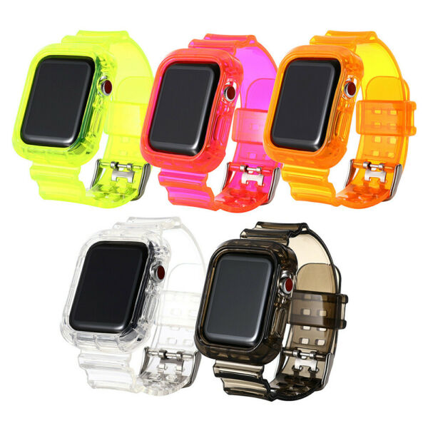 Silicone TPU Sport Watch Band Strap For Apple Watch Series 6 5 4 3 2 1 iwatch SE $8.96