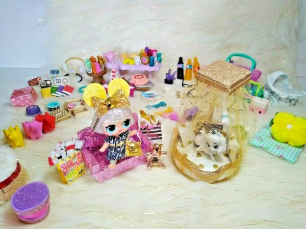 LOL SURPRISE 6 PC LOT RANDOM CUSTOM FURNITURE FOOD ACCESSORIES AND MORE *NO DOLL $9.85