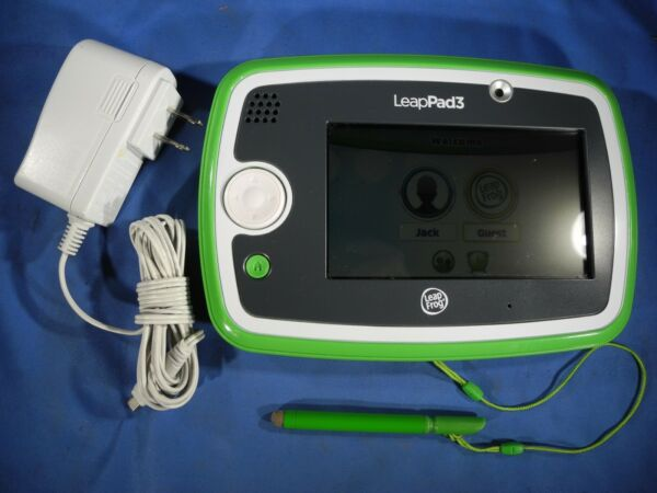 LeapFrog Green LeapPad 3 System Tablet with Stylus amp; Charger VERY NICE $34.99