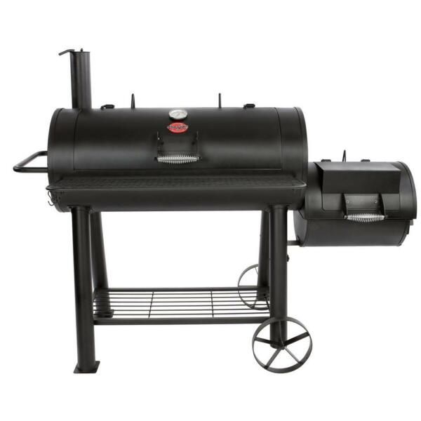 1012 sq. in. Competition Pro Offset Charcoal or Wood Smoker in Black