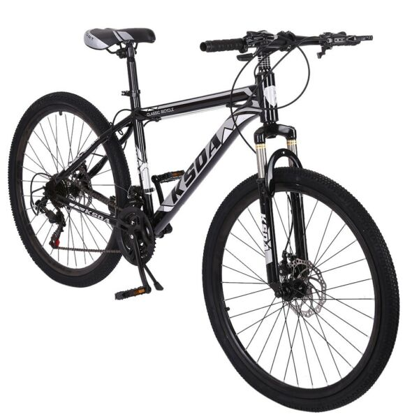 26quot; Full Suspension Mountain Bike Road 21 Speed Disc Brakes Mens Bicycle US $175.88