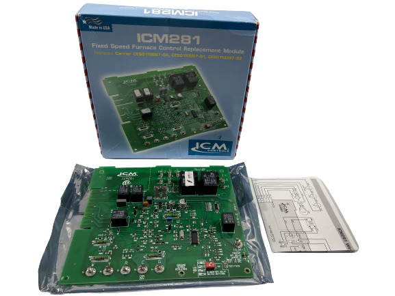 ICM Furnace Speed Control Board ICM281 for Carrier CES0110057 01 CES0110057 02 $79.99