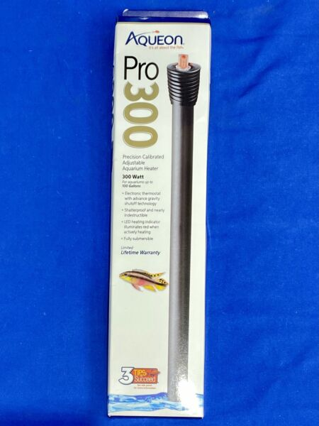 Aqueon Pro 300W Submersible Aquarium Heater 100 Gal Tank 32463 13 $30.99