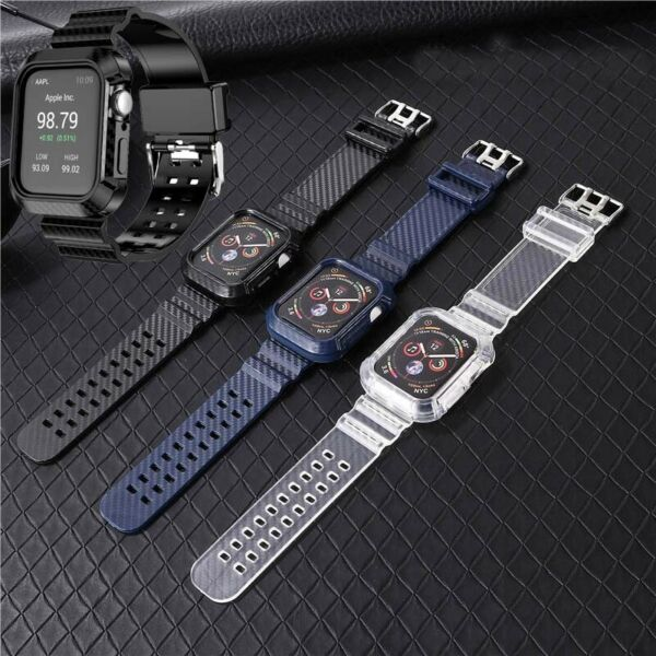 Carbon Fiber Watch Band Case Wrist Strap For Apple Watch Series 6 5 4 3 2 1 SE $8.99