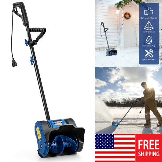 12in 9 Amp Electric Corded Snow Shovel Blower Driveway Yard Snow Thrower Outdoor