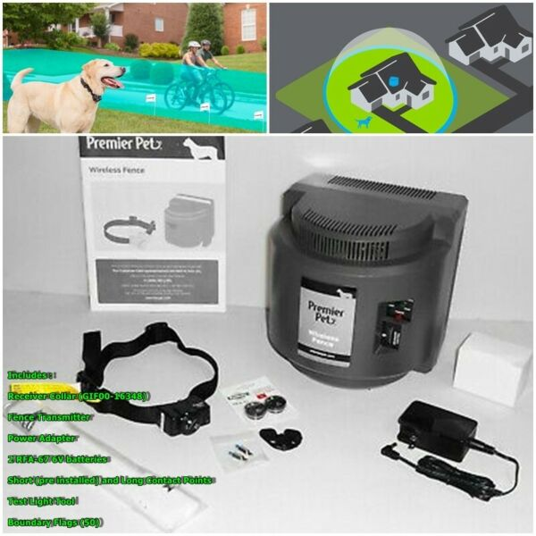 Premier Pet GIF00 16347 Wireless Dog Pet Fence Containment System $149.99